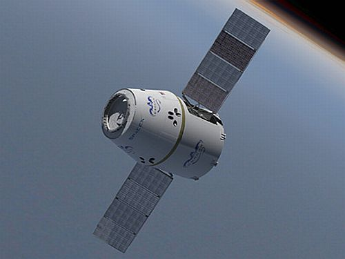 Unmanned space capsule Dragon