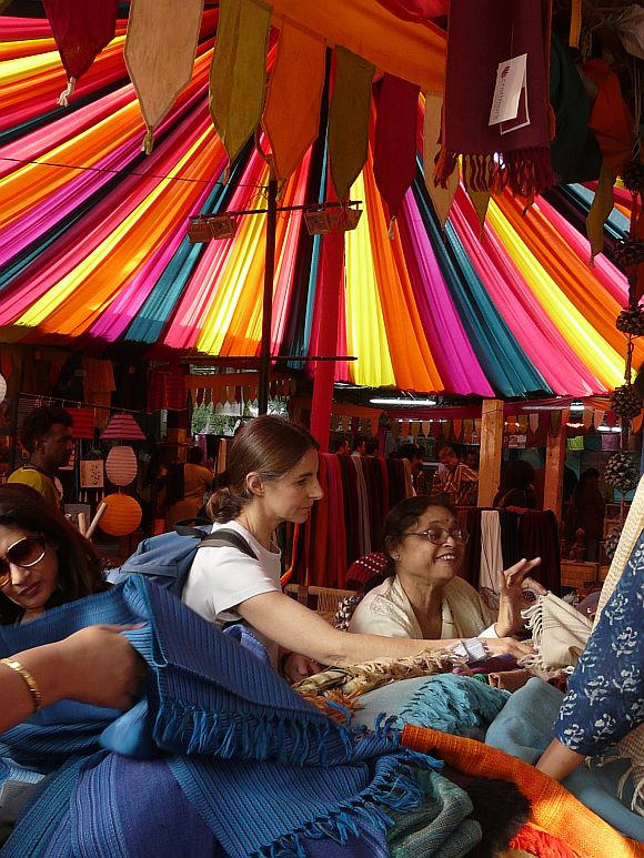 Dilli Haat, a popular destination among tourists and Delhites alike.