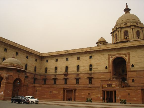 The sprawling Rashtrapati Bhavan situated in Raisina Hill of Lutyen's Delhi