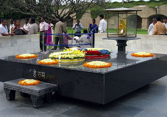 Mahatma Gandhi's memorial at Rajghat