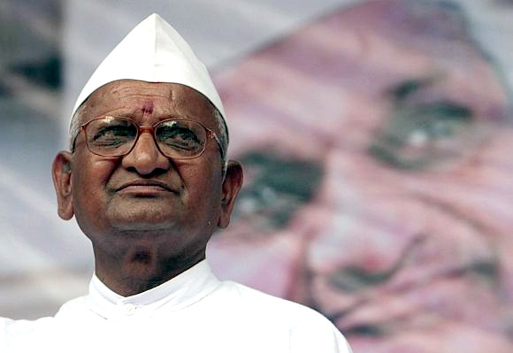 Anti-graft crusader Anna Hazare