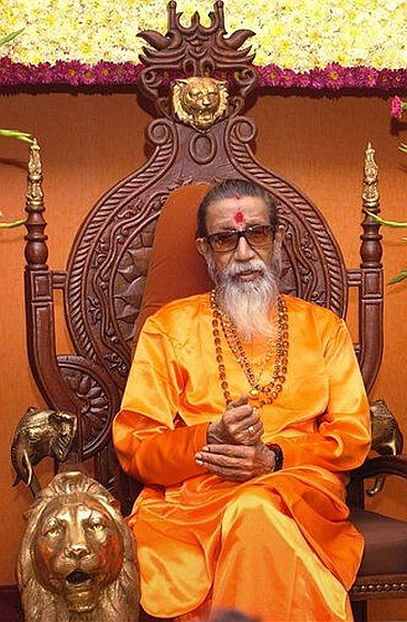 Shiv Sena chief Balasaheb Thackeray
