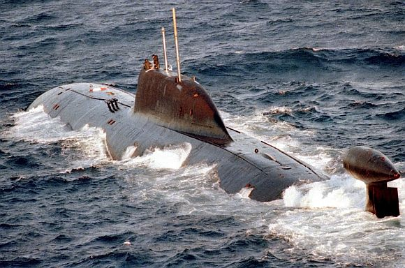 File image of a Russian Akula-II class 'Nerpa' nuclear attack submarine