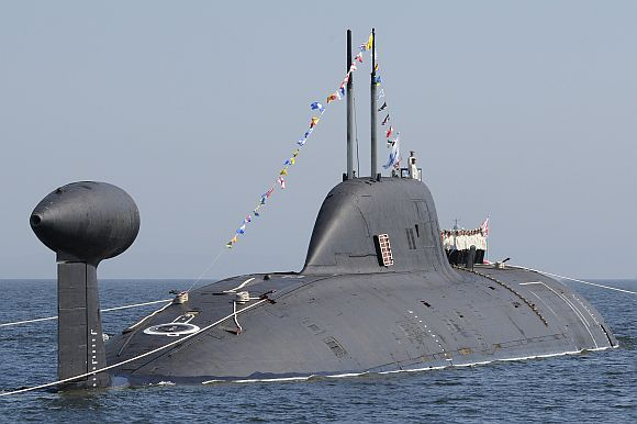 The Russian Akula-II class 'Nerpa' nuclear attack submarine.