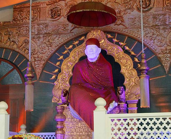 The replica of the temple has a massive 24-foot tall idol of Sai Baba