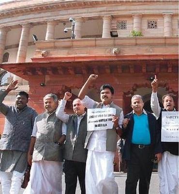 Kerala MPs protest in New Delhi