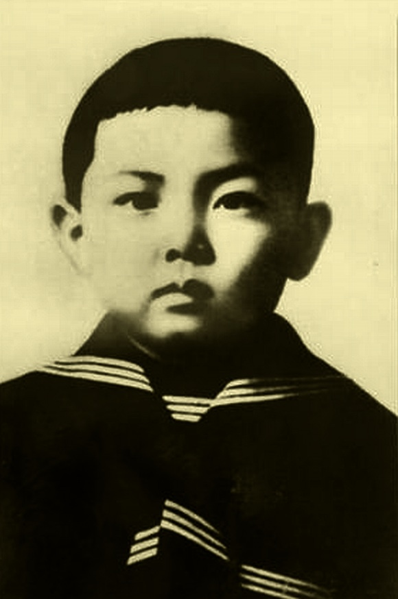 Kim Jong-il as a child