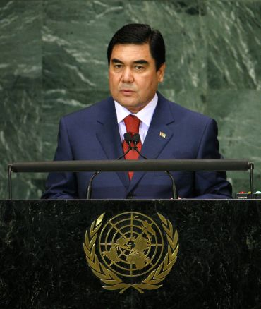 Turkmenistan's President Berdimuhamedov addresses the Millennium Development Goals Summit at United Nations headquarters in New York