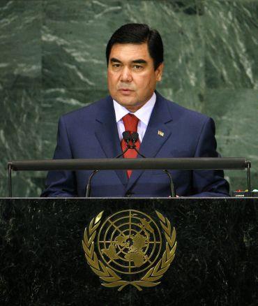 Turkmenistan's President Berdimuhamedov addresses the Millennium Development Goals Summit at United Nations headquarters in New York