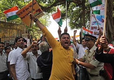 An anti-corruption rally in New Delhi