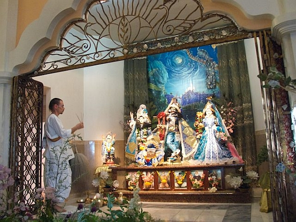 The ISKCON temple in St Petersburg, Russia