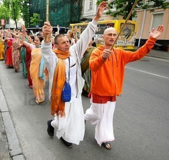 Devotees of Hare Rama Hare Krishna