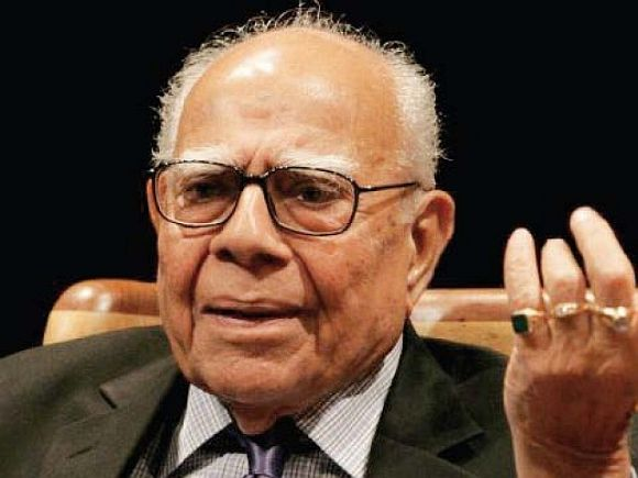 Bharatiya Janata Party member Ram Jethmalani