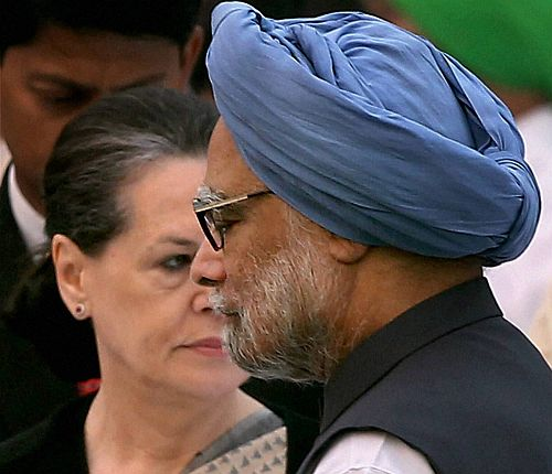 Sonia Gandhi with Dr Singh