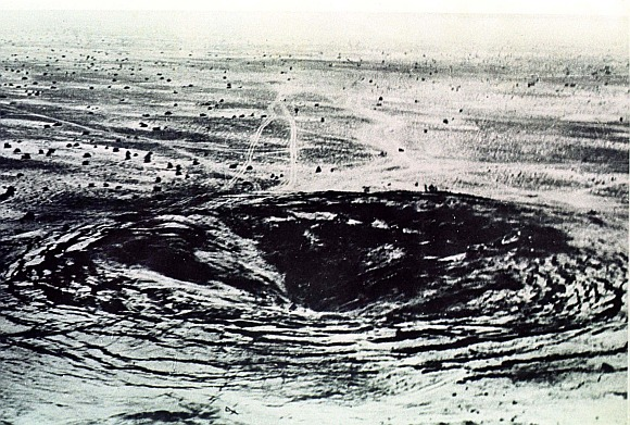 The scene of India's first underground nuclear explosion conducted in Pokharan in Rajasthan is shown in this 18 May 1974 file photo.