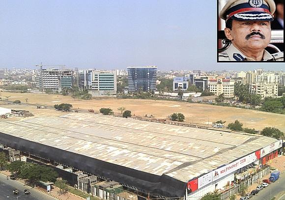 MMRDA grounds (inset) Mumbai Police Commissioner Arup Patnaik