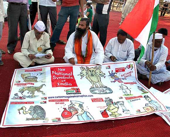 Mumbai's MMRDA ground gets ready for Anna Hazare's protest fast