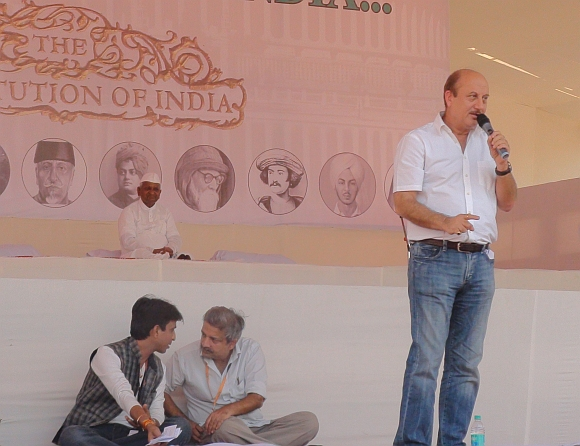 Anupam Kher at MMRDA grounds