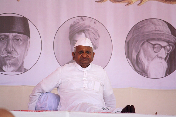 Anna Hazare at MMRDA ground, Mumbai