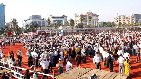 The Mumbai venue for K B 'Anna' Hazare's fast