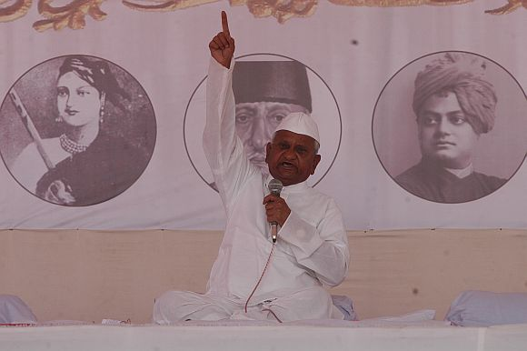 Anna Hazare at MMRDA grounds