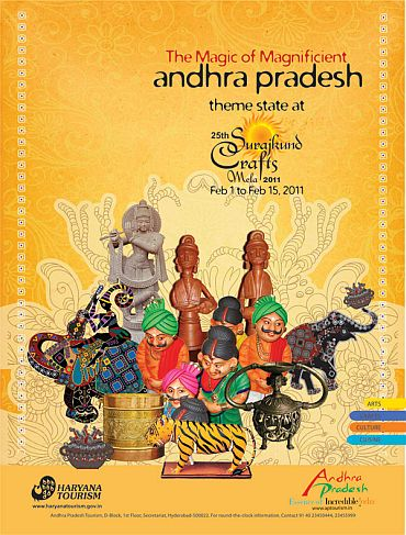 Andhra Pradesh is the theme state of this year's Surajkund Mela