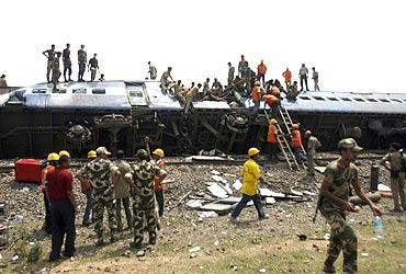 The Gyaneshwari train mishap, which claimed 120 lives, was allegedly caused by Maoists