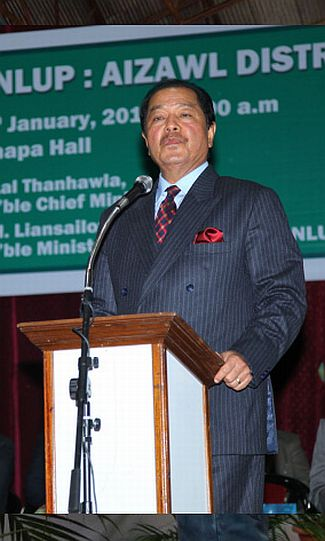 Mizoram Chief Minister Lal Thanhawala