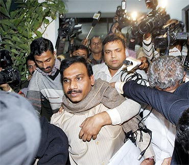 Former telecom minister A Raja was arrested for his alleged role in the 2G scam