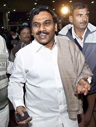 Former telecom minister A Raja.