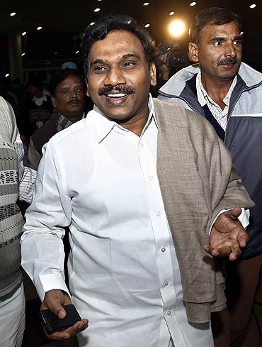Former telecommunications minister Andimuthu Raja was arrested by the CBI on Wednesday