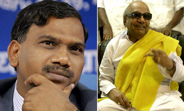 Raja's literary skills got him close to Karunanidhi