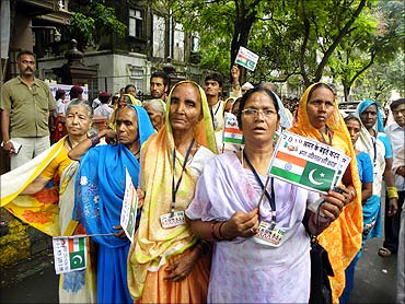 A rally in support of Indo-Pak peace