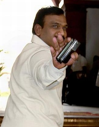 Former Union telecom minister A Raja