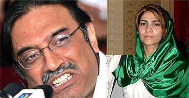 Pakistan President Asif Ali Zardari and his alleged wife Tanveer Zamani