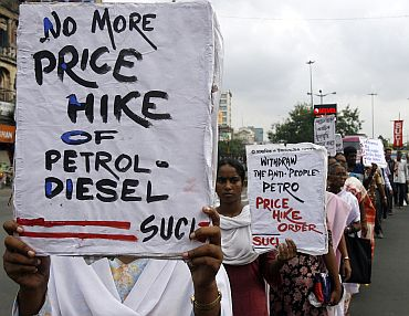 A protest against price rise