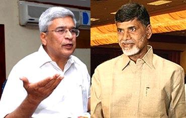 Prakash Karat and Chandrababu Naidu