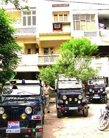 Aarushi's home at Jalvayu Vihar in Noida