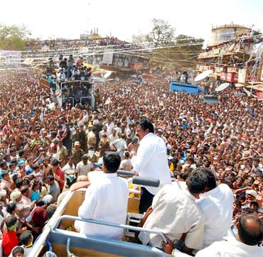 Chiranjeevi participates in a state-wide road show