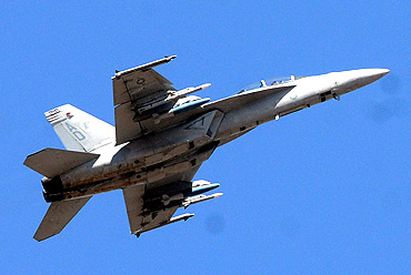 The F-18 Super Hornet in action
