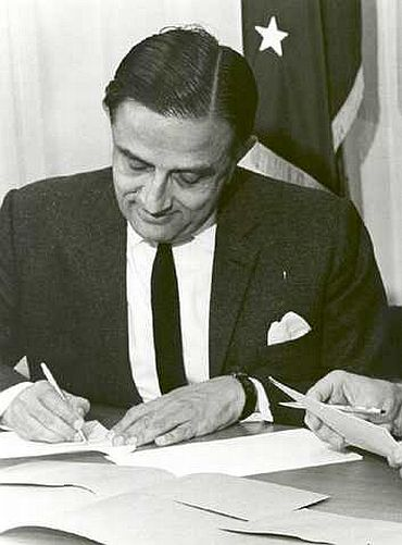 Dr Vikram Sarabhai, who succeeded Homi Bhabha as chairman of the Atomic Energy Commission