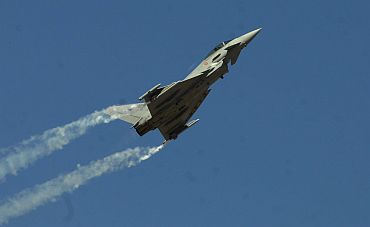 A Eurofighter in action