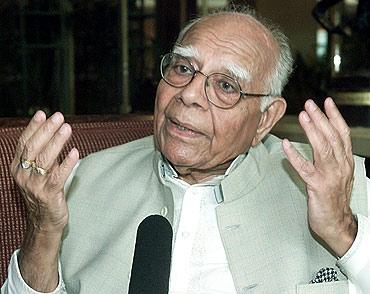 Veteran lawyer Ram Jethmalani