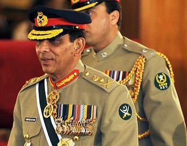Pakistani army chief Ashfaq Parvez Kayani