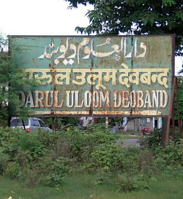 A signboard of the Darul Uloom