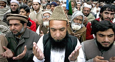 An anti-government protest by supporters of Jamaat-e-Islami in Peshawar
