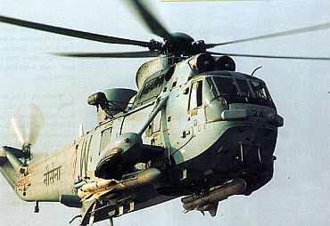 File photo of the Indian Navy's SeaKing helicopter