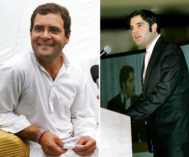 Congress leader Rahul Gandhi and BJP leader Varun Gandhi