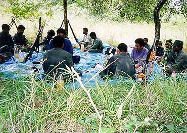 Maoist cadres at a training camp