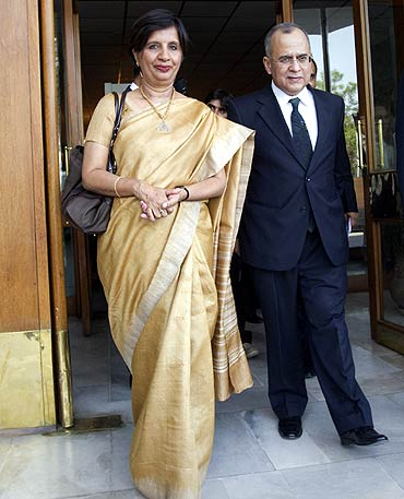 Foreign Secretary Nirupama Rao and her Pakistani counterpart Salman Bashir meet in Bhutan earlier this month